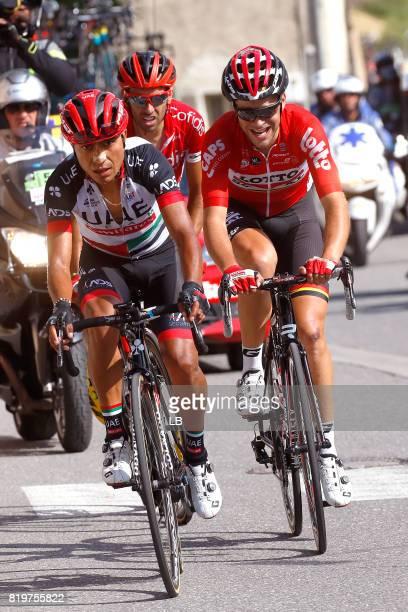 104th Tour de France 2017 / Stage 18 John Darwin ATAPUMA / Tony GALLOPIN / Daniel NAVARRO GARCIA / Briancon IzoardCol d'Izoard 2360m / TDF /