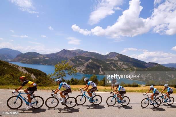 104th Tour de France 2017 / Stage 18 Oliver NAESEN / Romain BARDET / Ben GASTAUER / Alexis VUILLERMOZ / Team AG2R La Mondiale / Mountains / Landscape...