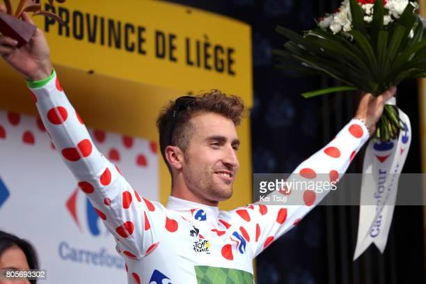 104th Tour de France 2017 / Stage 2 Podium / Taylor PHINNEY Polka Dot Mountain Jersey / Celebration / Dusseldorf - Liege / TDF /