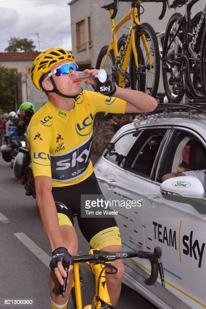104th Tour de France 2017 / Stage 21 Christopher FROOME Yellow Leader Jersey / Nicolas PORTAL Sportsdirector Team Sky / Champagne / Montgeron Paris...