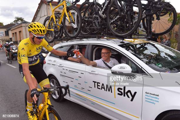 104th Tour de France 2017 / Stage 21 Christopher FROOME Yellow Leader Jersey / Dave BRAILSFORD Team Manager Team SKY / Champagne / Montgeron Paris...
