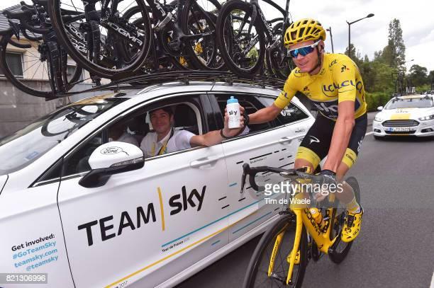 104th Tour de France 2017 / Stage 21 Christopher FROOME Yellow Leader Jersey / Nicolas PORTAL Sportsdirector Team Sky / Sky Ocean Rescue / Montgeron...