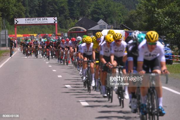 104th Tour de France 2017 / Stage 3 Peloton / F1 Circuit SpaFrancorchamps / Landscape / Verviers LongwyCote des Religieuses 379m / TDF /