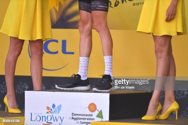 104th Tour de France 2017 / Stage 3 Podium / Geraint THOMAS Yellow Leader Jersey / Legs / Miss / Hostess / Verviers LongwyCote des Religieuses 379m /...