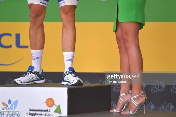 104th Tour de France 2017 / Stage 3 Podium / Marcel KITTEL Green Sprint Jersey / Legs / Miss Hostess / Verviers LongwyCote des Religieuses 379m / TDF...