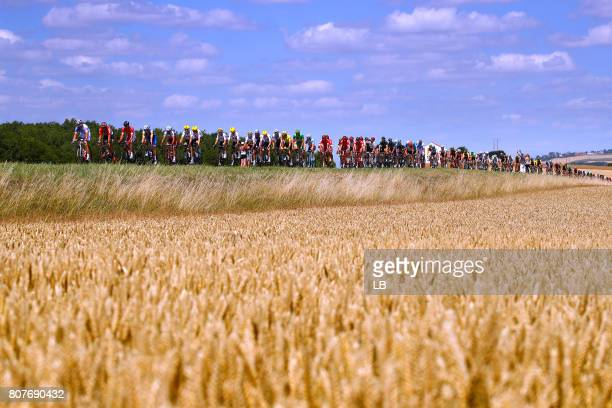 104th Tour de France 2017 / Stage 4 Landscape / Peloton / Wheat Field/ MondorflesBains Vittel 362m / TDF/