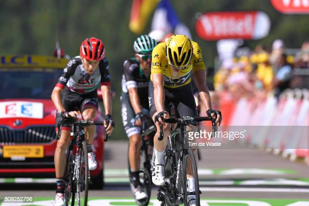 104th Tour de France 2017 / Stage 5 Arrival / Geraint THOMAS Yellow Leader Jersey / Vittel - La Planche des Belles Filles 1035m / TDF/
