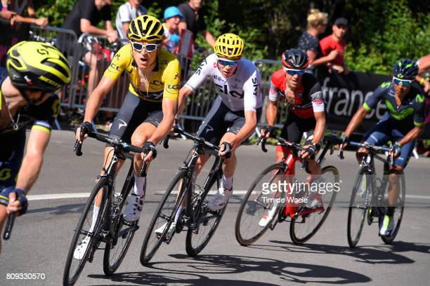 104th Tour de France 2017 / Stage 5 Geraint THOMAS Yellow Leader Jersey / Christopher FROOME / Richie PORTE / Nairo QUINTANA / Vittel - La Planche...