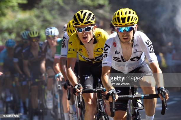 104th Tour de France 2017 / Stage 5 Mikel NIEVE ITURALDE / Geraint THOMAS Yellow Leader Jersey / Vittel - La Planche des Belles Filles 1035m / TDF/...