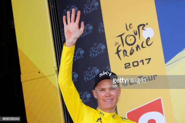 104th Tour de France 2017 / Stage 5 Podium / Christopher FROOME Yellow Leader Jersey / Celebration / Vittel - La Planche des Belles Filles 1035m /...