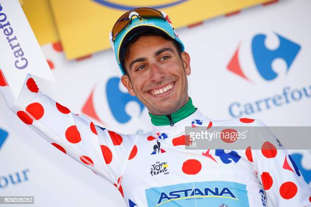 104th Tour de France 2017 / Stage 5 Podium / Fabio ARU Polka Dot Mountain Jersey / Celebration / Vittel - La Planche des Belles Filles 1035m / TDF/