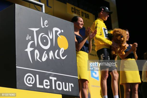 104th Tour de France 2017 / Stage 7 Podium / Logo / Christopher FROOME Yellow Leader Jersey / Celebration / Troyes Nuits Saint Georges / TDF /