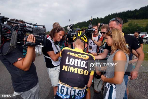 104th Tour de France 2017 / Stage 8 Arrival / Robert GESINK / Interview / Press / Dole Station des Rousses 1178m / TDF /