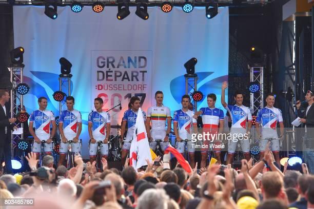104th Tour de France 2017 / Team Presentation Team FDJ / Davide CIMOLAI / Mickael DELAGE / Arnaud DEMARE / Jacopo GUARNIERI / Ignatas KONOVALOVAS /...