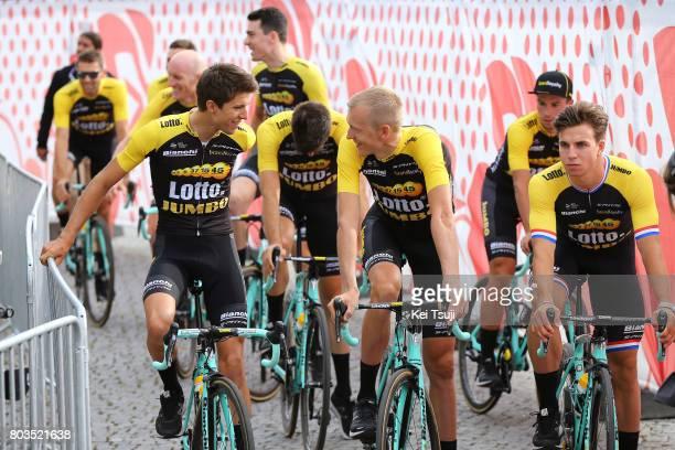 104th Tour de France 2017 / Team Presentation Team LOTTO NL JUMBO / George BENNETT / Robert GESINK / Dylan GROENEWEGEN / Team Presentation / TDF/