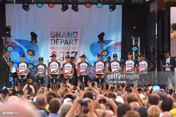 104th Tour de France 2017 / Team Presentation Team UAE Team Emirates / Jhon ATAPUMA / Matteo BONO / Kristijan DURASEK / Vegard Stake LAENGEN / Marco...