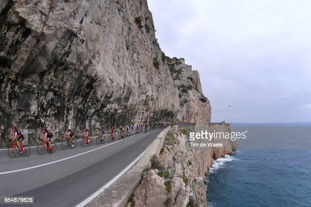 108th Milan-Sanremo 2017 Landscape / Peloton / Mediterranean Sea/ BMC Racing Team / Milano - Sanremo / ©Tim De Waele