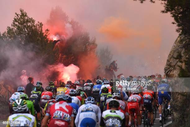 108th Milan-Sanremo 2017 Peloton / Fans / Public / Smoke Milano - Sanremo / ©Tim De Waele