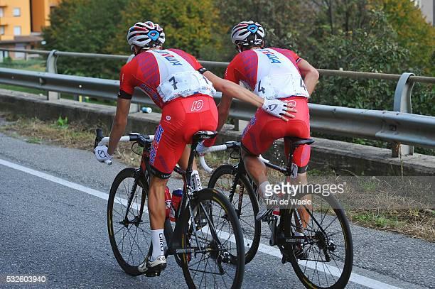 108th Tour of Lombardie 2014 Egor SILIN / Alexandr KOLOBNEV / Illustration Illustratie / Sanitair Stop Toilet WC Pipi / Como - Bergamo / Ronde...