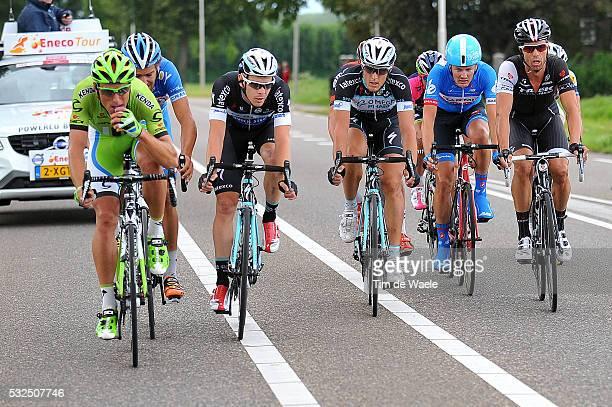 10th Eneco Tour 2014 / Stage 7 VERMOTE Julien / TRENTIN Matteo / HONDO Danilo / Riemst SittardGeleen / Rit Etape /Tim De Waele