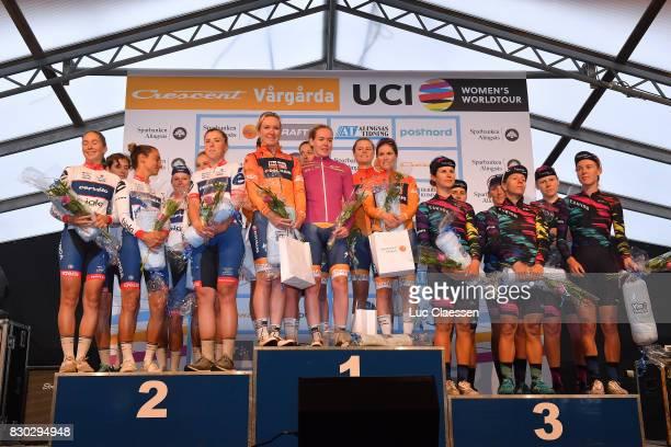 10th Open de Suede Vargarda 2017 / Women TTT Podium / Team CerveloBigla Pro Cycling / Ashleigh MOOLMAN / Lotta LEPISTO / Cecilie Uttrup LUDWIG / Lisa...