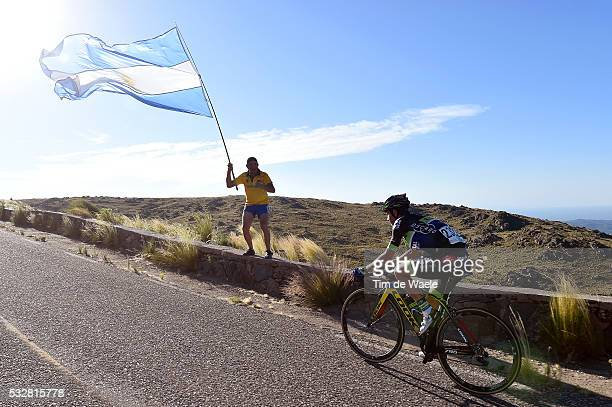 10th Tour de San Luis 2016 / Stage 4 SEPULVEDA Eduardo / Illustration Illustratie / Fans Supporters / Public Publiek Spectators / Argentina Flag...