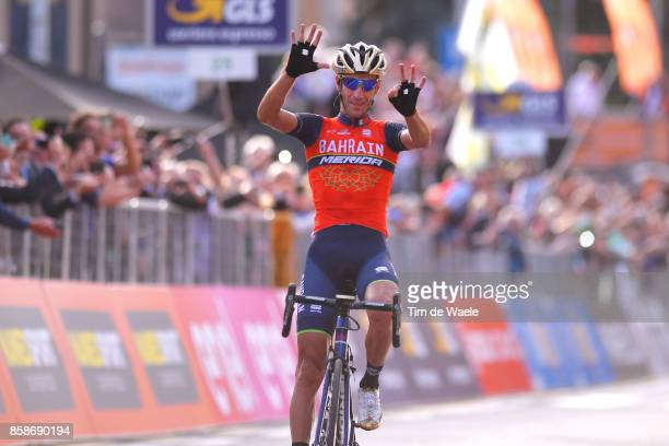 111th Il Lombardia 2017 Arrival / Vincenzo NIBALI / Celebration / Bergamo Como / IL /