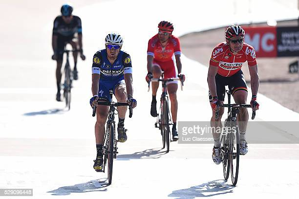114th Paris Roubaix 2016 Arrival / TRENTIN Matteo / GREIPEL Andre / Compiegne Roubaix / Parijs PR / Tim De WaeleLC/Tim De Waele/Corbis via Getty...