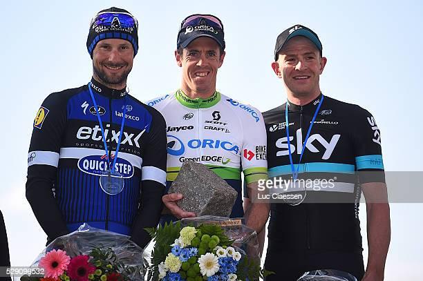 114th Paris - Roubaix 2016 Podium / BOONEN Tom / HAYMAN Matthew / STANNARD Ian / Celebration Joie Vreugde / Compiegne - Roubaix / Parijs PR / Tim De...