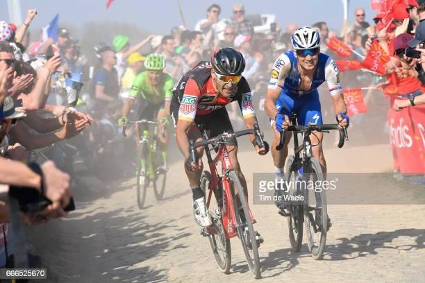 115th Paris - Roubaix 2017 Greg VAN AVERMAET / Zdenek STYBAR / Sebastian LANGEVELD / Compiegne Paris - Roubaix / PR / pool bp