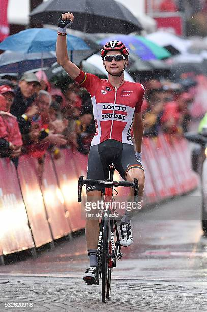 11th Eneco Tour 2015 / Stage 6 Arrival / Tim WELLENS Celebration Joie Vreugde / Heerlen - Houffalize / Rit Etape /Tim De Waele