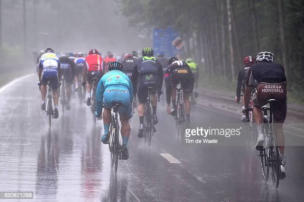 11th Eneco Tour 2015 / Stage 6 Illustration Illustratie/ Rain Regen Pluie/ Peleton Peloton / Heerlen - Houffalize / Rit Etape /Tim De Waele