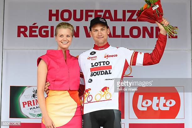 11th Eneco Tour 2015 / Stage 6 Podium / Tim WELLENS White leaders jersey / Celebration Joie Vreugde/ Heerlen - Houffalize / Rit Etape /Tim De Waele