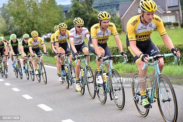 11th Eneco Tour 2015 / Stage 6 Rick FLENS / Tom LEEZER / Wilco KELDERMAN White Leader Jersey / Maarten WIJNANTS / Heerlen - Houffalize / Rit Etape...
