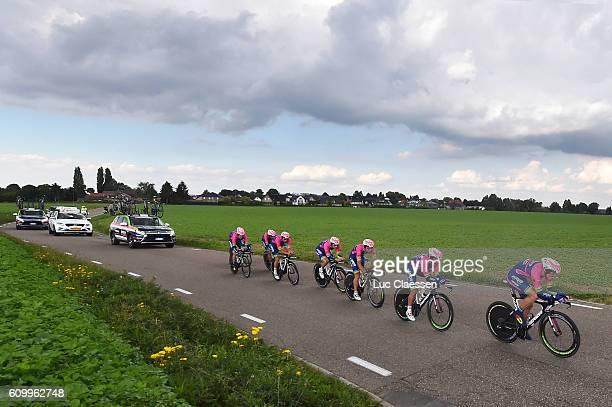 12nd Eneco Tour 2016 / Stage 5 Team LAMPRE MERIDA / Sacha MODOLO / Matteo BONO / Davide CIMOLAI / Mario Jorge FARIA DA COSTA / Roberto FERRARI /...