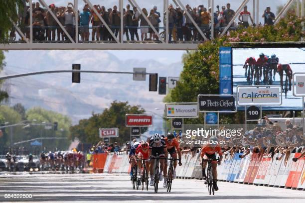 12th Amgen Tour of California Men 2017 / Stage 4 Arrival / Sprint / Evan HUFFMAN Rob BRITTON / Lennard HOFSTEDE / Matthias Le TURNIER / Santa...