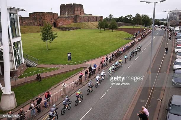 12th Tour of Britain 2015/ Stage 3 Illustration Illustratie/ Peloton Peleton/ Landscape Paysage/ Carlisle Castle/ Cockermouth - Floors Castle. Kelso...