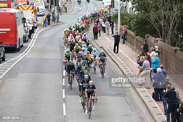 12th Tour of Britain 2015/ Stage 3 Illustration Illustratie/ Peloton Peleton/ Landscape Paysage/ City Village/ Public Spectators/ Fans Supporter...
