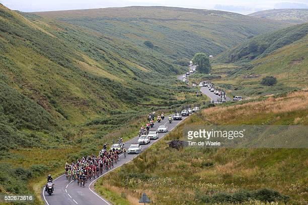 12th Tour of Britain 2015/ Stage 3 Illustration Illustratie/ Peloton Peleton/ Landscape Paysage/ Carlisle Castle/ Mountains Montagnes Bergen/...