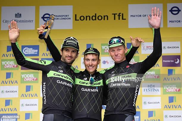 12th Tour of Britain 2015/ Stage 8 Podium / Team CANNONDALE GARMIN / VAN BAARLE Dylan / Celebration Joie Vreugde / London - London / Rit Etape / Tour...