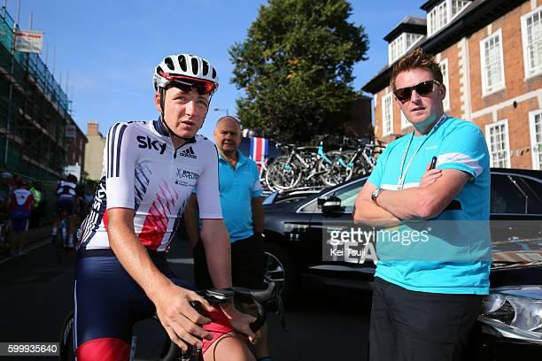 13rd Tour of Britain 2016 / Stage 4 Tao GEOGHEGAN HART / Rod ELLINGWORTH / Head of Performance Operations / Denbigh to Builth Wells / TOB /Tim De...