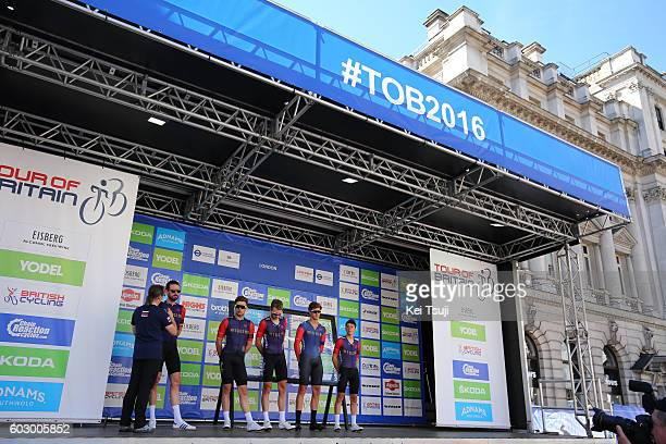 13rd Tour of Britain 2016 / Stage 8 Bradley WIGGINS / Owain DOULL / Mark CHRISTIAN / Christopher LATHAM / Daniel PEARSON / Team Wiggins / London...