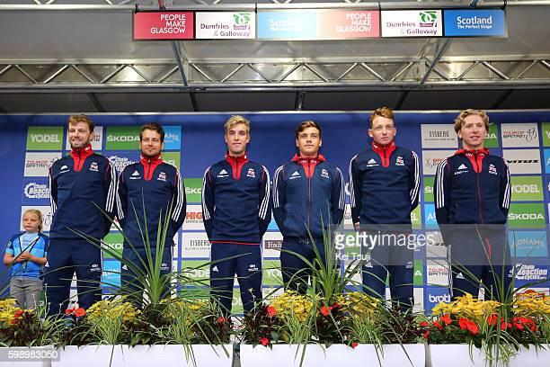 13rd Tour of Britain 2016 / Team Presentation Team Great Britain / Adam BLYTHE / Gabriel CULLAIGH / Tao GEOGHEGAN HART / Daniel MCLAY / Mark STEWART...