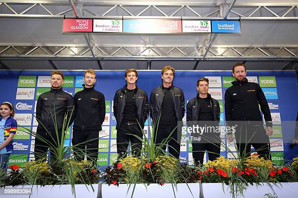 13rd Tour of Britain 2016 / Team Presentation Team Wiggins / Bradley WIGGINS / Jonathan DIBBEN / Owain DOULL / Mark CHRISTIAN / Christopher LATHAM /...