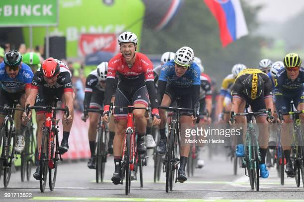 13Th Binckbank Tour 2017, Stage 4Arrival, Sprint, Edward Theuns Celebration, Marko Kump / Tim Merlier / Lanaken - Lanaken / Bbt,