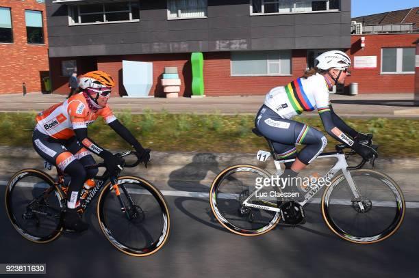 13th Omloop Het Nieuwsblad 2018 / Women Chantal Blaak of The Netherlands / KarolAnn Canuel of Canada / Gent Ninove / Women / Flanders Classics /