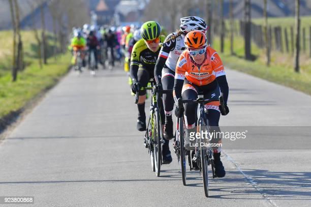 13th Omloop Het Nieuwsblad 2018 / Women KarolAnn Canuel of Canada / Gent Ninove / Women / Flanders Classics /