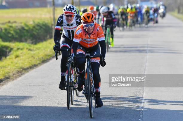 13th Omloop Het Nieuwsblad 2018 / Women KarolAnn Canuel of Canada / Lucinda Brand of The Netherlands / Gent Ninove / Women / Flanders Classics /