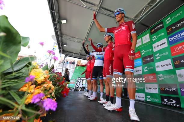 14th Tour of Britain 2017 / Stage 4 Start / Podium / Nils POLITT / Tony MARTIN / Alexander KRISTOFF / Alexander KRISTOFF European Champion Jersey /...