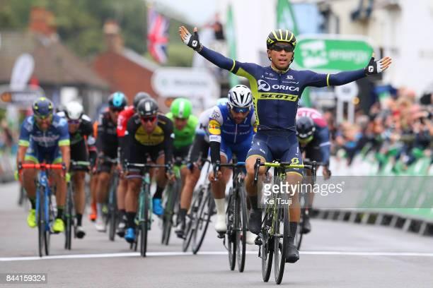 14th Tour of Britain 2017 / Stage 6 Arrival / Caleb EWAN Celebration / Fernando GAVIRIA / Dylan GROENEWEGEN / Andrea PASQUALON / Sprint / Newmarket...